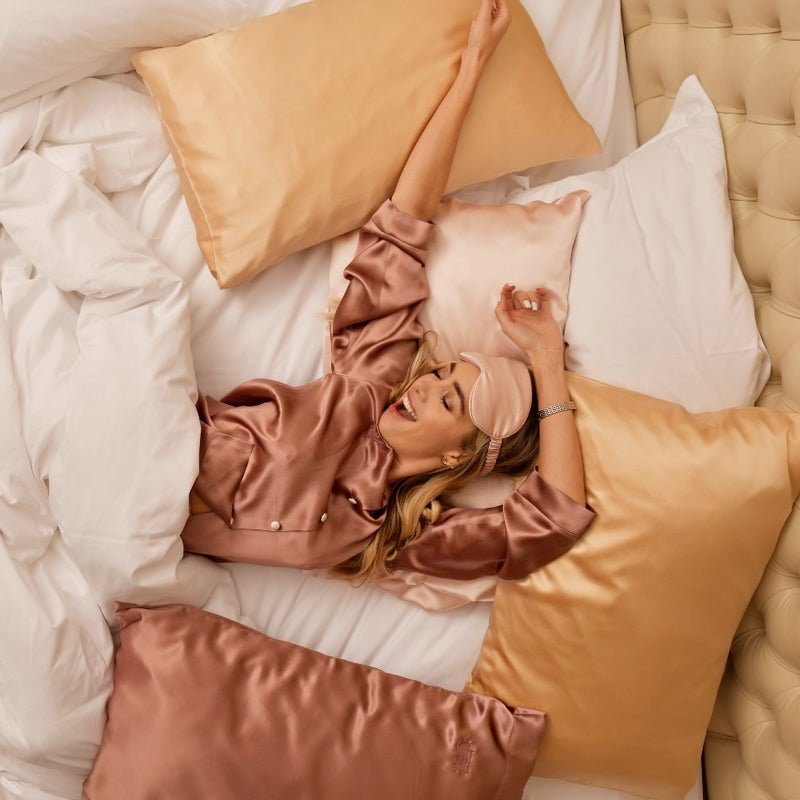 Silk Queen Pillowcase (Glossy Gold)-FaceSilk