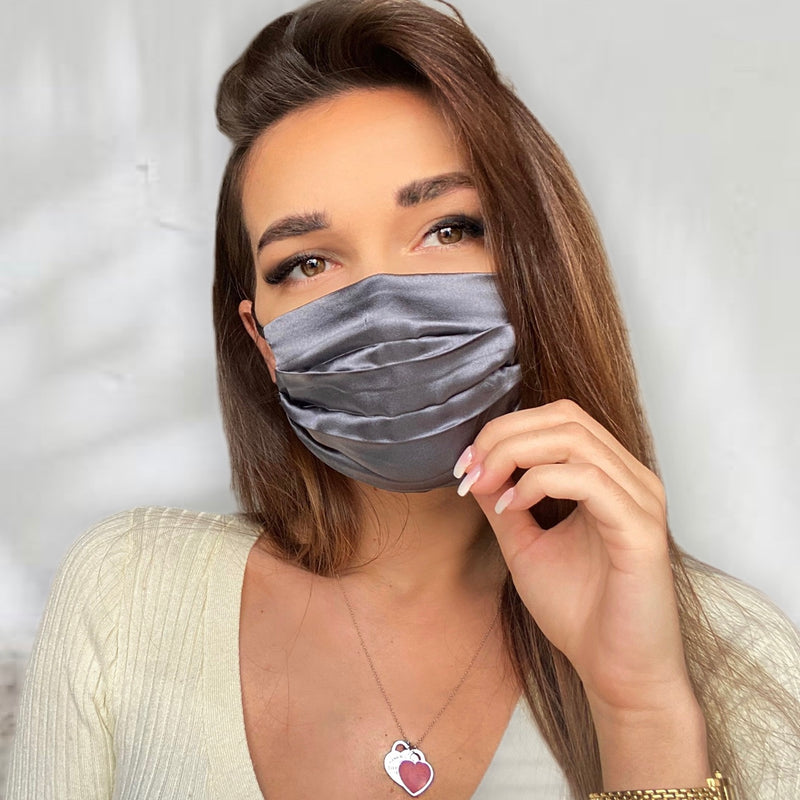 FAB Luxe Silk Face Mask (Primrose Grey)-FaceSilk