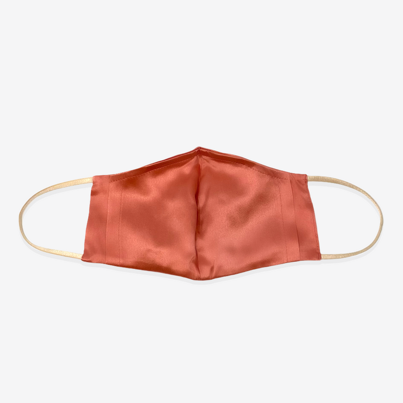 Fit Luxury Silk Face Mask (Vivid Coral)-FaceSilk