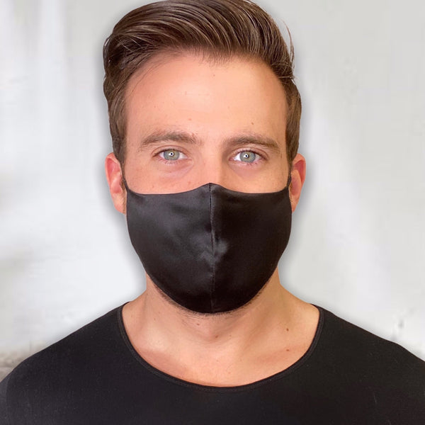 FIT Luxury Silk Face Mask For Men (Ocean Black)-FaceSilk