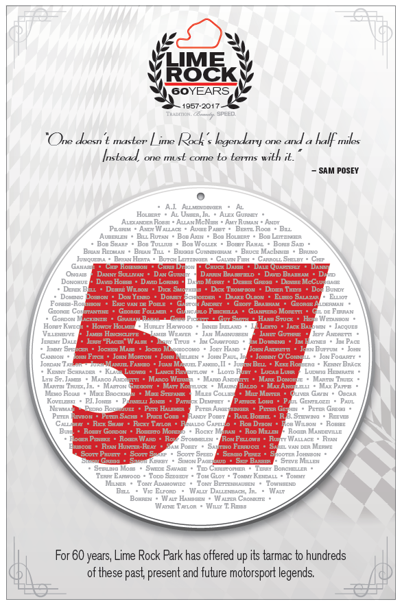 60th anniversary poster lime rock park merchandise