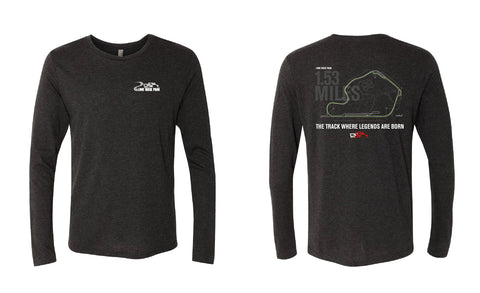 Track Map Long-Sleeve Men's Shirt