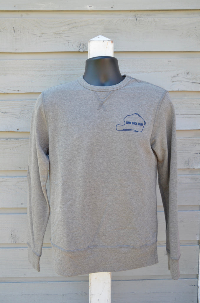 Men's long-sleeve terry sweatshirt, vintage coal