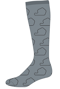 Men's Grey Dress Socks