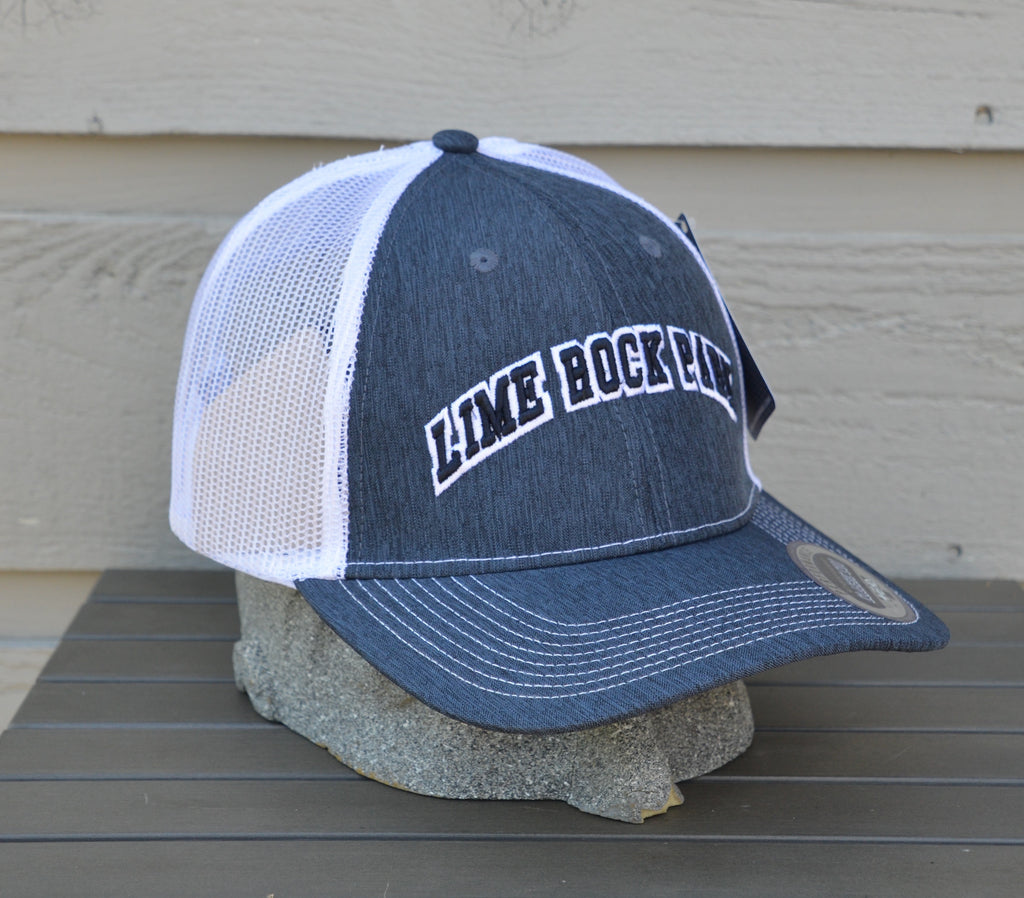 trucker style mesh hat with retro print