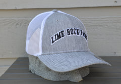 trucker style hat, mesh with retro print