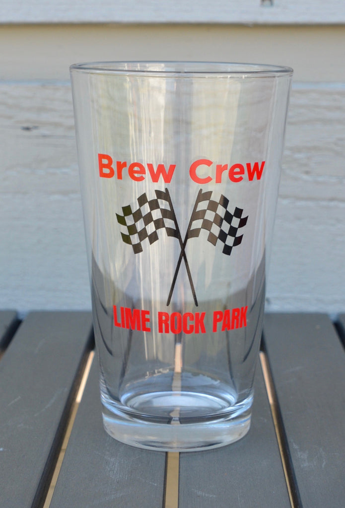Pint glass, Lime Rock Park