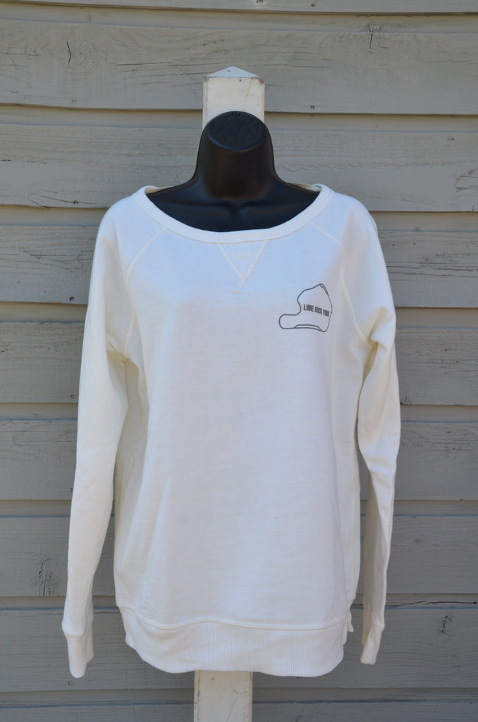 Women's french terry sweatshirt, porcelain