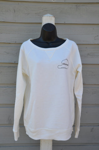Women's sweatshirt, crew neck - porcelain