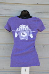 Women's vintage tee - scoop neck, purple
