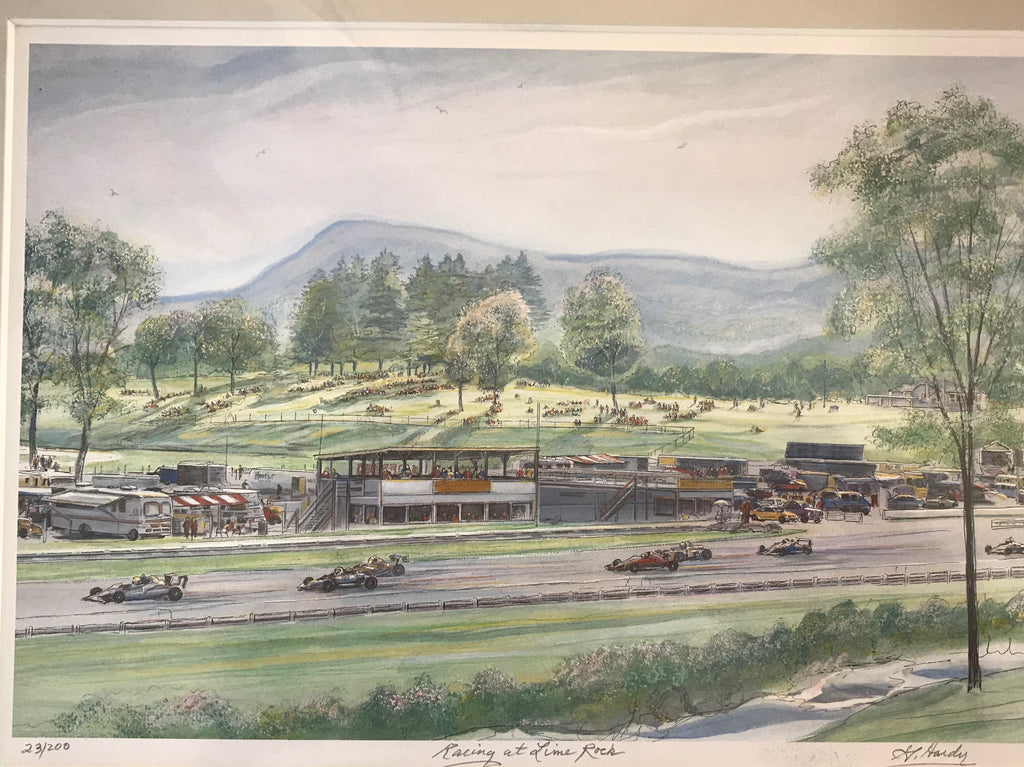 Racing at Lime Rock Park, Gerald Hardy print