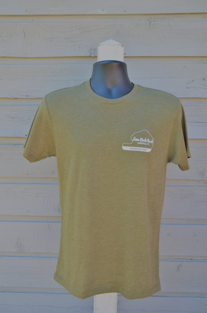 Men's tee, Recreation Area - military green