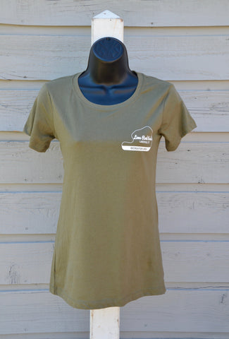 Women's tee, Recreation Area - military green