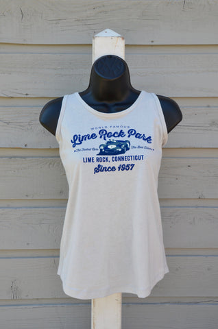 Women's tank, front graphic, silver
