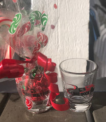 Holiday shot glass