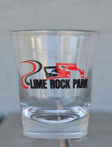 Shot glass, track outline