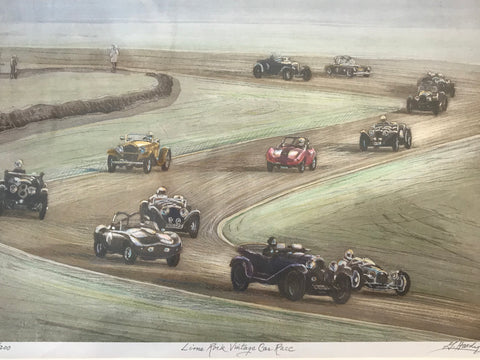 Lime Rock Vintage Car Race, Gerald Hardy print