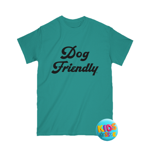 blue, cotton, Crew neck, dog, Dog Friendly, friendly, green, kids, soft, T-shirts, teal, tee, Unisex, youth