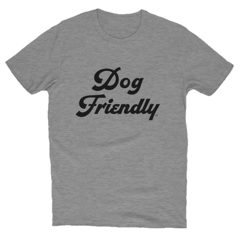cotton, Crew neck, dog, dog friendly, friendly, gray, Men's Clothing, soft, T-shirts, tee, Unisex, Women's Clothing