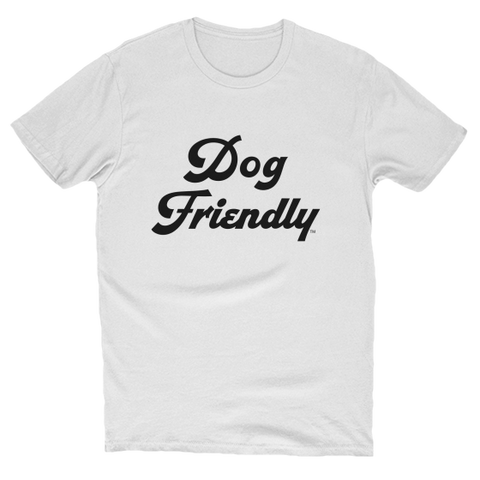 cotton, Crew neck, dog, Dog Friendly, friendly, Men's Clothing, soft, T-shirts, tee, Unisex, white, Women's Clothing