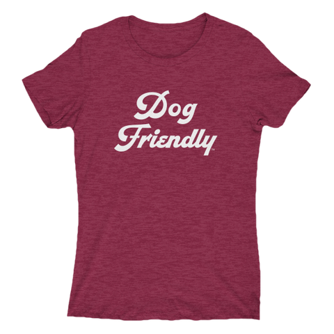 cotton, dog, Dog Friendly, friendly, ladies, puppies, red, slim, Slim fit, soft, T-shirts, tee, Women's Clothing