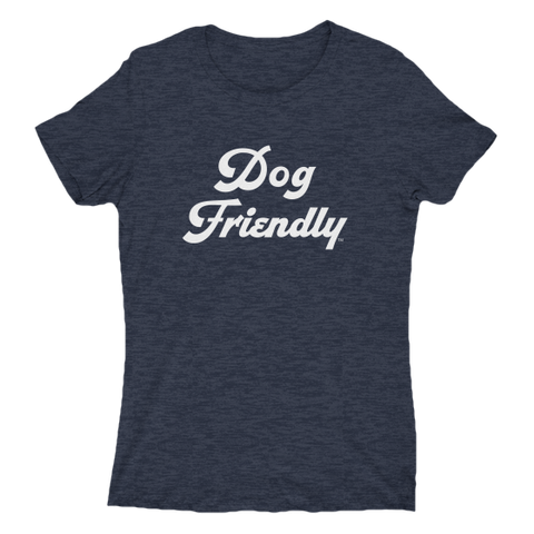 blue, cotton, Crew neck, dog, Dog Friendly, fitted, friendly, girls, ladies, navy, puppies, soft, T-shirts, tee, Women's Clothing