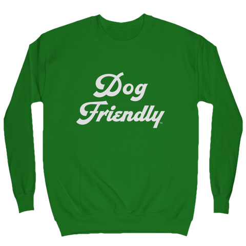 comfy, cotton, cozy, Crew neck, dog, dog friendly, friendly, green, Men's Clothing, soft, sweat, sweatshirt, Unisex, Women's Clothing