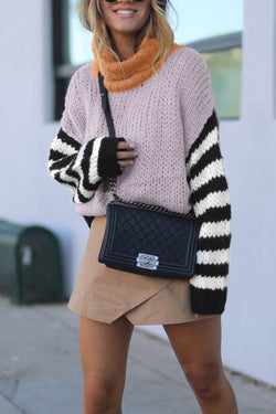 Patchwork Light Pink Sweater
