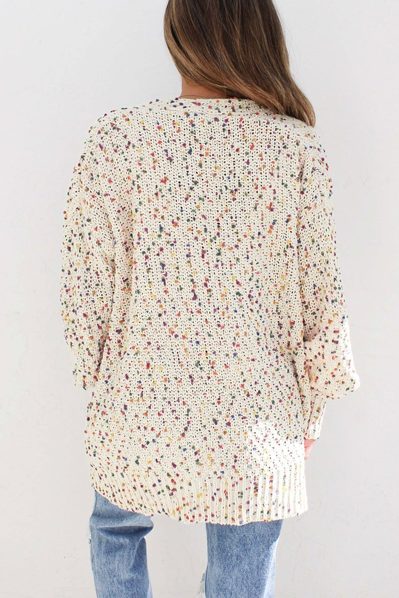 Full Hearts Natural Confetti Cardigan