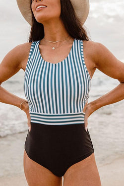 Striped Smart One Piece Swimwear