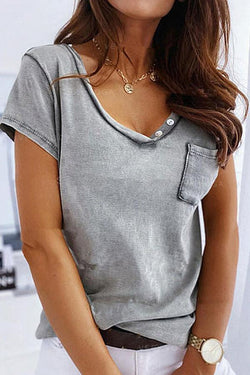 Casual Solid Color T-Shirt