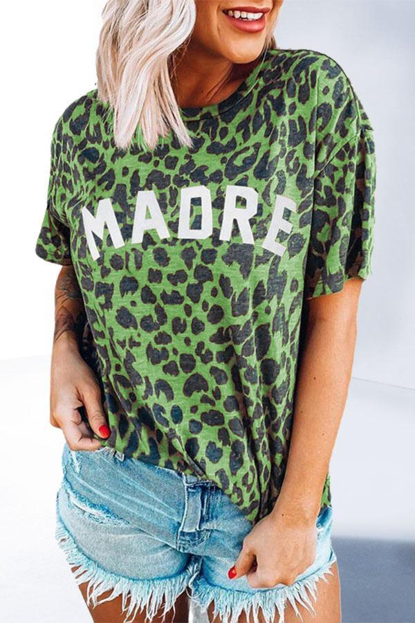 Simple Leopard Print T-Shirt
