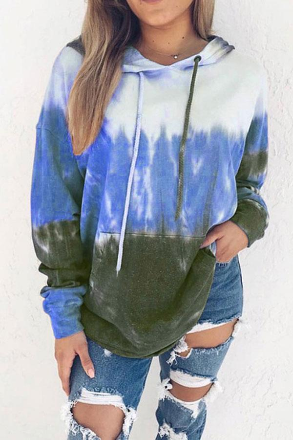 Casual Gradient Hooded Sweatshirt