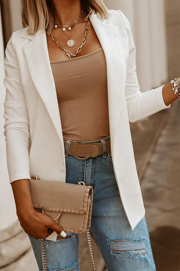 Solid Color Elegant Coat