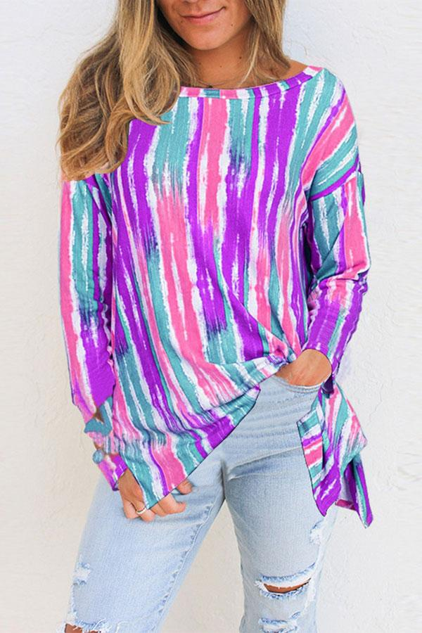 Colorful Striped Casual Shirt