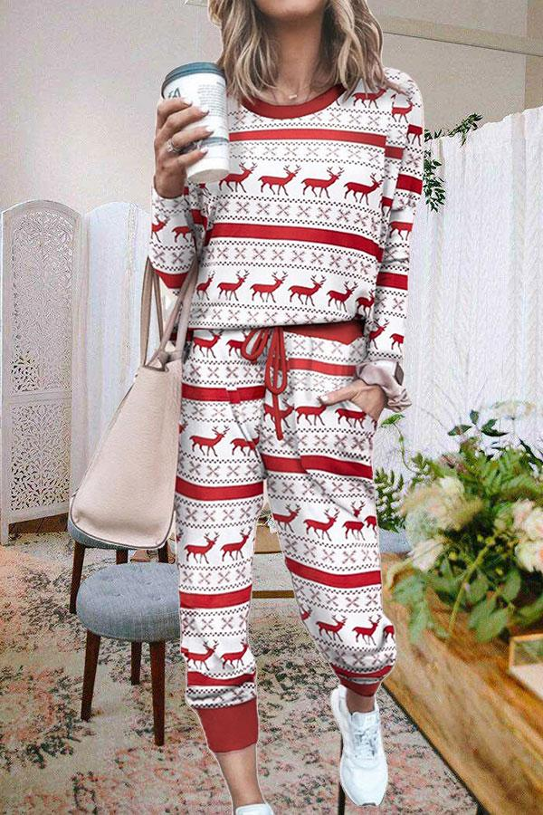 Christmas Relaxed Pants Suit