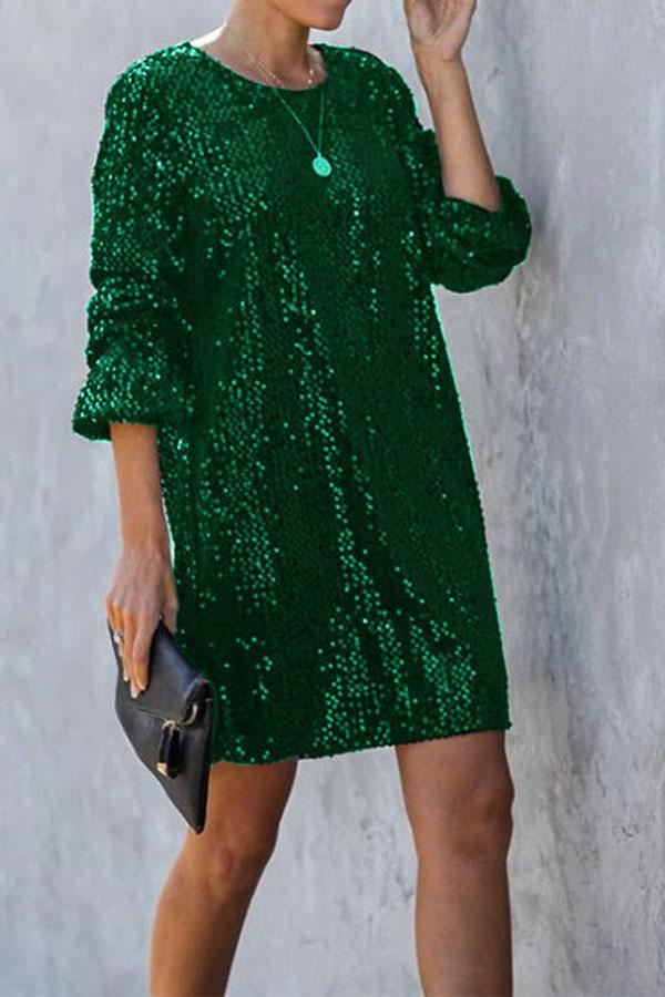 Sequined Pretty Strappy Mini Dress