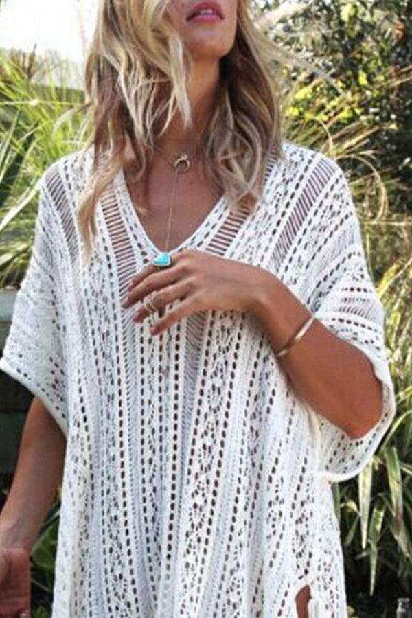 Plain On-trend Sun Tassels Beachwear