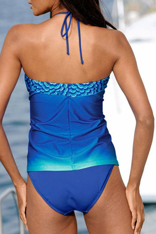 Blue Gradient Undeniable Tankini Set