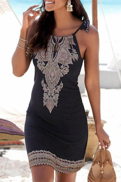 Tribal Print Sweet Mini Dress