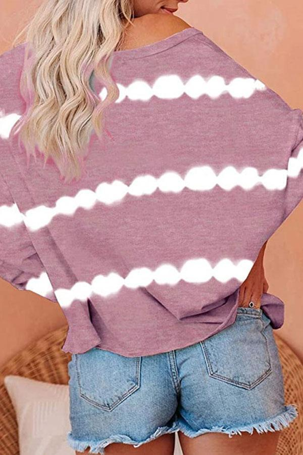 Tie Dye Striped Pretty Blouse