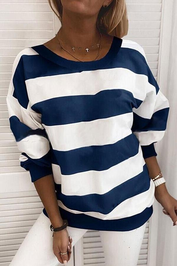 Striped Classic Sweatshirt