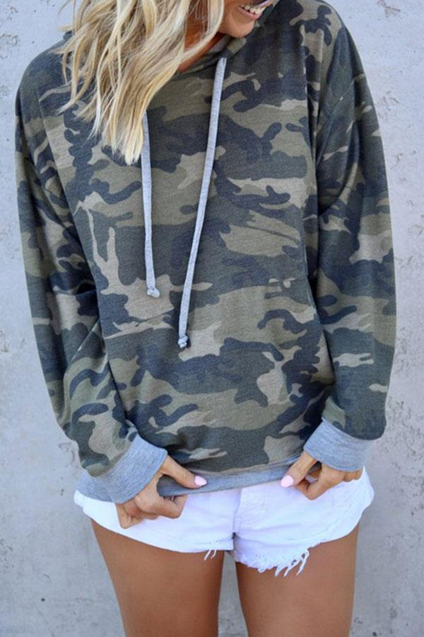 Camouflage Classic Hooded Top
