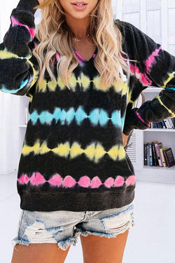 Tie Dye Chic Gradient Colour Hood Sweatshirt