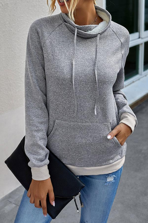 Solid Color Boho Sweatshirt