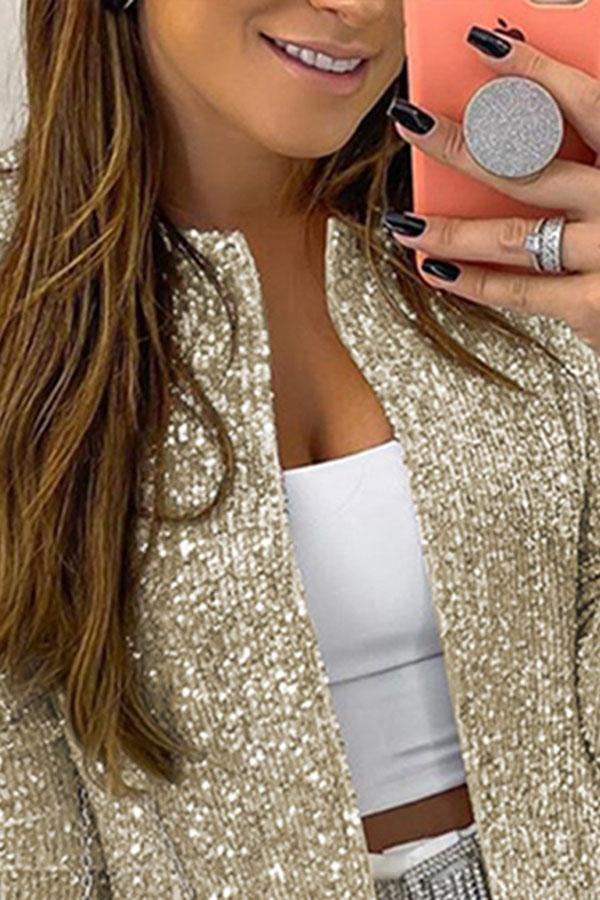 Sequined Feminine Princess Coat