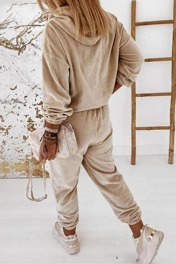 Solid Color Modern Pants Suit