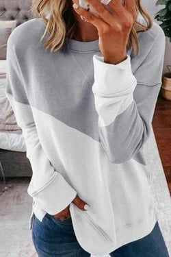 Color Block Feminine Sweatshirt