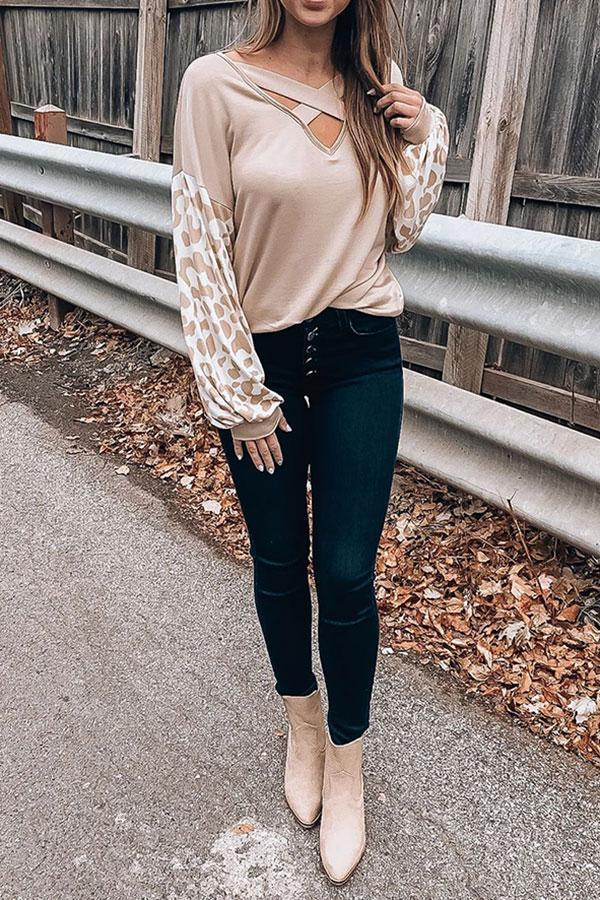 Animal Print  Casual Blouse