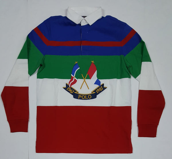 NWT POLO RALPH LAUREN CLASSIC FIT COLOR CROSS FLAG RUGBY